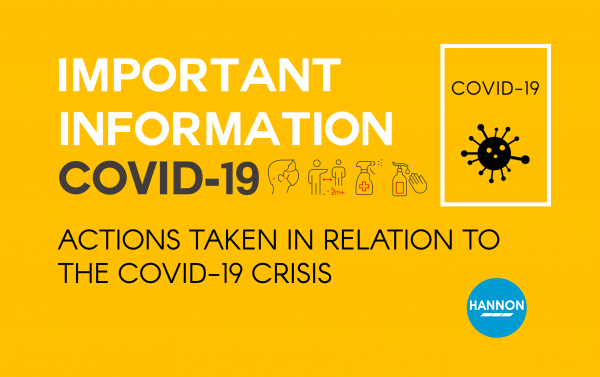 Actions taken in relation to the Covid-19 crisis