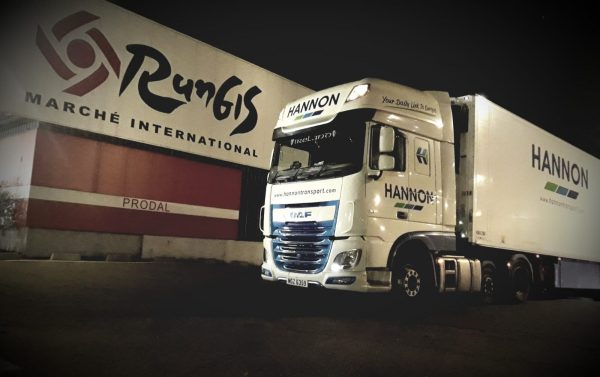 HANNON Transport overnight in Rungis International Market, PARIS