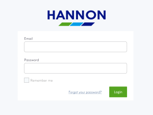 HANNON Customer Customs Portal Login