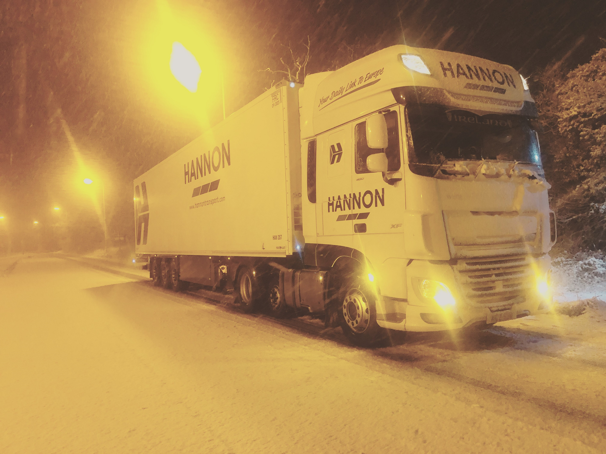 HANNON Truck in Snow